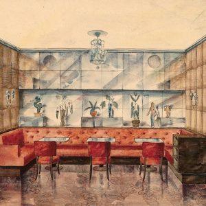 Otto Prutscher's 1937 design for the Café-Restaurant @imperialvienna in Vienna's 1st district (jointly ...