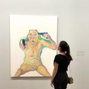 """""""You or me?"""" Maria Lassnig Бывает, смотришь на картину, и как воздуха в комнате больше становится, как..."""