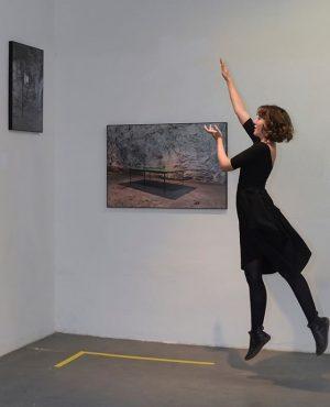 """From our current group exhibition """"die weisse ab-haus-verkaufs-kunstschau"""" #06:  LISA GROSSKOPF (@lisa_grosskopf)  Works: """"Atopia (Tischtennis)"""",..."""