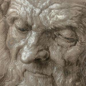 Albrecht Durer (German, 1471-1528), A 93-Year-Old Man, 1521 Albertina, Vienna, currently exhibited in Albrecht Durer at the...