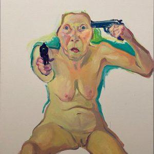 Prise de tête || #contemporaryart #marialassnig #youorme #painting #art #guns #vienna #museum Albertina Museum