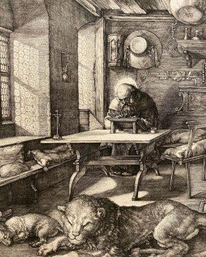 Saint Jerome in His Study. #1514 #albrechtdürer #engraving #albertinamuseum Albertina Museum