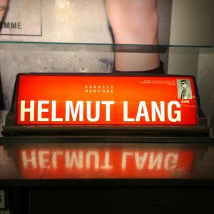 HL nYc . . . #austrian born #fashiondesigner #helmutlang has his own section in #mac_vienna with this...
