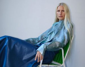 AT ONE WITH MY BLUE SELF Kirsty Hume Shot by Katja Rahlwes #PETARPETROVWOMEN