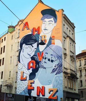 Les rues de Vienne #vienne #travel #trip #wien #tourisme #streetart #us #walk #instagram