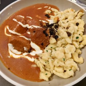And how about some fantastic Kaisergulasch as well? Here served with nockerln, little dumplings not unlike spätzle....
