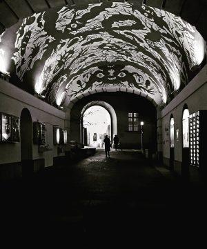 #museumsquartier#durchgang#schwarzweissfotografie#lichtundschatten#wandmalerei#unterwegszuhause