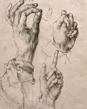 Dürer moments   The Study of Three Hands, c.1494 Albertina Museum