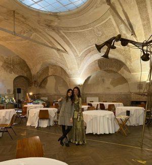 #blitzlicht #kulturheute @orfdrei grandkobel #tv #constantinluser #yasminakobza zu Gast im vergessenen Ballsaal #art #food #popup Donauhof