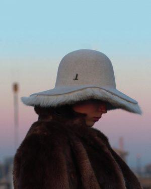 Mühlbauer   #hatlove ▪️NADJA wears ARI ALESSIO, an #elegant #fedora with Toscana #lambskin Inside! ▪️ Fedora is...