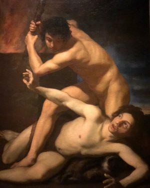"Bartolomeo Manfredi ""Cain slaying Abel"" Kunsthistorisches Museum Vienna"