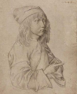 Albrecht Dürer 'Self Portrait at the Age of Thirteen' 1484 and Albrecht Dürer der Ältere 'Self Portrait'...