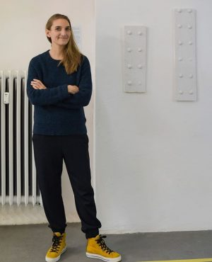 """From our current group exhibition """"die weisse ab-haus-verkaufs-kunstschau"""" #06:  MARIT WOLTERS (@marit_wolters)  Works: """"With a..."""