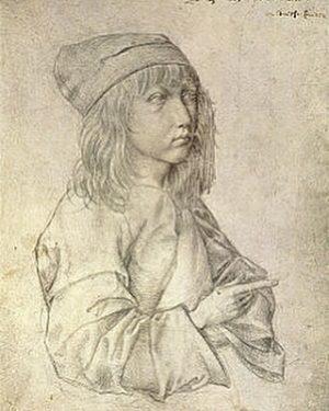 "Albrecht Dürer ""Ritratto a tredici anni"" (1484) punta d'argento su carta @albertinamuseum #durer Albertina Museum"