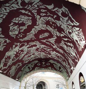 Austria 👹 #austria🇦🇹 #colorful #red #motifs #demons #museum MQ – MuseumsQuartier Wien