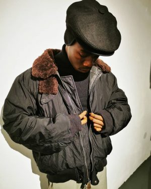 #polo #ralphlauren #downjacket #black #bomberjacket with #shearling #collar #polyklamott #vintageshop #1060wien Polyklamott