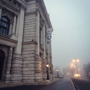 👋 Guten Morgen, kommen Sie gut durch den Nebel! 😊 . . . #burgtheater #wien #europa #mondaymood