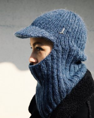 Mühlbauer I #hatpeople ◾SARAH wears FENNO - a #balaclava or #skimask #handkit with a short visor. Made...