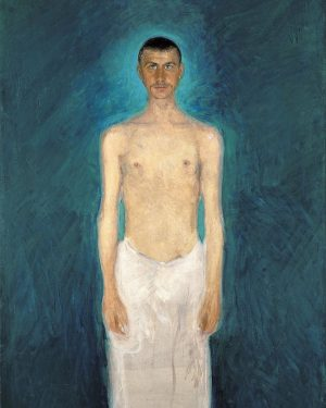 Gerstl´s Self-Portrait Before a Blue Background from 1902–1904 is probably one of the most unusual works of...