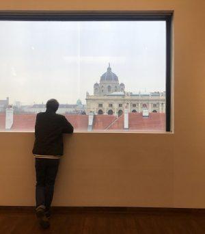 Hombre en la ventana. Leopold Museum