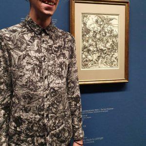 B.B. hozzáöltözött a Dürer kiállításhoz! #dürer #albertina #vienna #wien #exhibition #durershirt #apocalysis Albertina Museum