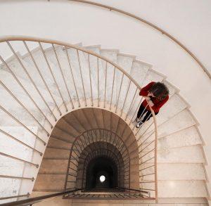Spiral staircase 🤍 [advertising] #vienna #viennacity #wien #austria #österreich #interiors #interiordesign #stair #stairs ...