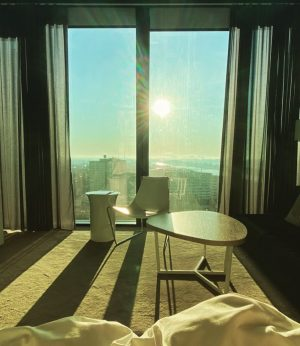 Good morning ☀️ Waking up in the highest building in Austria with sunshine #meliawien #meliavienna Meliá Vienna