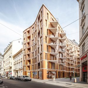 3XN completes first project in Vienna, Renngasse 10, which is a contemporary residential building in the heart...