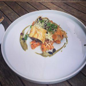 Viennese blood sausage in phyllo. 🇦🇹 Café Engländer