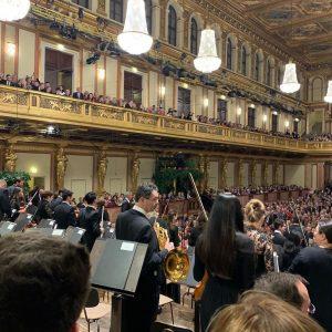 楽友教会にてニューイヤーズイヴコンサート。舞台袖の席で雰囲気良かったです。 @wien @vienne @ウィーン #concert #コンサート Wiener Musikverein