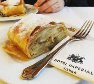 When in Vienna, must have strudel #hotelimperialvienna Hotel Imperial, a Luxury Collection Hotel, ...