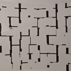 #blackandwhite #schwarzundweiss #decoration #dekoration #decoratedwall #wandgestaltung #entrance #eingang #pattern #muster MQ – MuseumsQuartier Wien