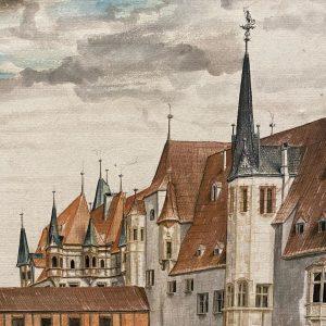 Urban studies Courtyard of Innsbruck Castle to the North, ca 1495 #Dürer #Albertina Albertina Museum