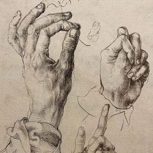 Gestures Three Studies of Dürer's Left Hand, 1493/94 Two Studies of Hands Holding a Book, 1506 Hand...