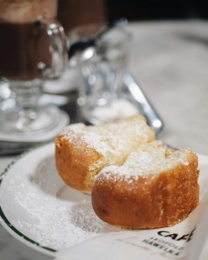 . Buchteln Puffs filled with Plum Jam + Hot Chocolate with cream 😋😋 ...