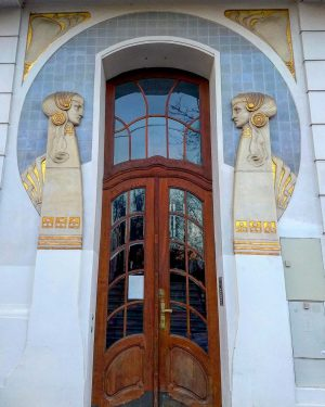 One of Vienna's loveliest portals in the Dannebergplatz in the 3rd district. Nr. 11 was completed as...
