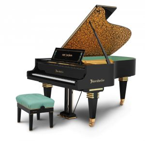"Bösendorfer presents the model Secession from the new ""architecture series"" at the NAMM show in California this..."
