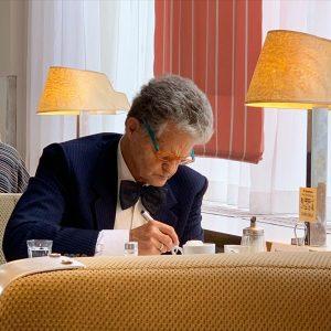 Monsieur très chic. 🍰 #cafeprückel #vienne #autriche #wesandersonstyle #1920s #cafe #wien Café Prückel