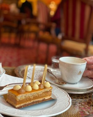 Try one of our wonderful cakes at Rosengarten with a wonderful view to the famous Ringstraße. #150yearsofgrandhotelwien...