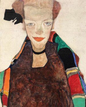 Portrait of Poldi Lodzinsky, Egon Schiele. 1910 — View @leopold_museum . . . ...