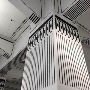 Otto Wagner Post Office Savings Bank, Vienna. Can't get enough of that #blackandwhite stripe detail. #exploringtheglobe #seetheworld...