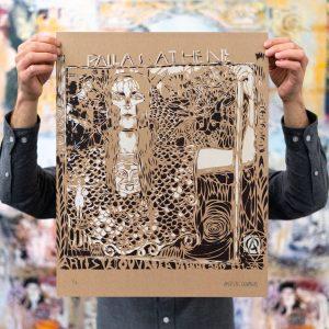 New #screenprint by #stencilartist @artiste_ouvrier online now! #pallasathene - Also find original work though @janarnoldgallery. The #artist...
