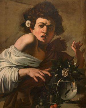 Caravaggio/Kərtənkələnin dişlədiyi uşaq 🔴Tarix :1597-98 . . . . . . . . . . . #caravaggio...