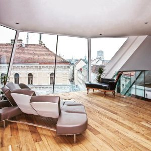 VIENNA: PenthouseP. The dormer windows open the interior to the outside and allow a wide view. #architects...