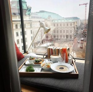 Roomservice with a view 🥰 #theguesthousevienna The Guesthouse Vienna