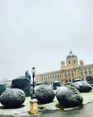 Snowing in Vienna today ❄ Kunsthistorisches Museum Vienna