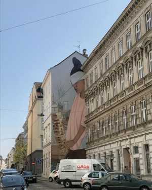 #vienna #avstria #europe #travel #trip #photo #photography #shotoniphone #city #citycenter #art #mural #citylife ...