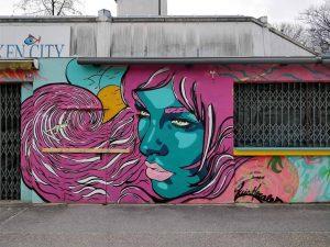 Donauinsel, 1220 Artist: @luismorales.art for @sansibar.vienna, @sansibeach www.viennamurals.at Book / Online Map / Blog #mural #murals #viennamurals...