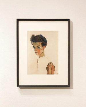 Egon Schiele [Self-Portrait With Striped Shirt] Leopold Museum