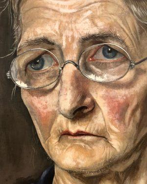 Rudolf Wacker / Portrait of Rosalie Haller, 1929 - Oil on wood Leopold ...